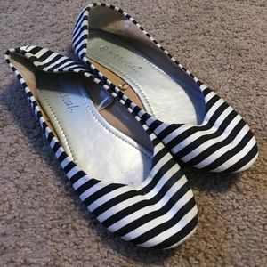 Wet Seal Striped Flats